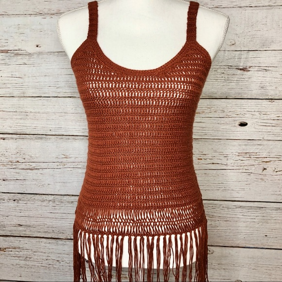 Cloud Chaser Tops - 🔥 3/$20: Cloud Chaser Crochet Fringe Tank Top